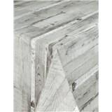 Ubrusy návin 20 m x 140 cm dřevěné desky šedé s textilní strukturou