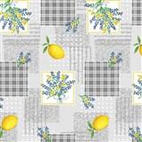 Ubrus metráž citróny s květinami