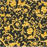 Luxusní vliesové  tapety na zeď Versace III barokní vzor s motýly zlato-černý