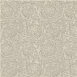 Luxusní vliesové  tapety na zeď Versace IV barokní vzor šedo-stříbrný