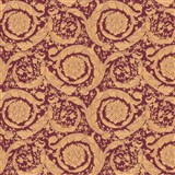 Luxusní vliesové  tapety na zeď Versace IV barokní vzor červeno-hnědý