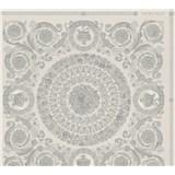 Luxusní vliesové  tapety na zeď Versace IV barokní ornamenty šedo-stříbrné