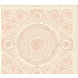 Luxusní vliesové  tapety na zeď Versace IV barokní ornamenty růžovo-bílé