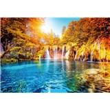 Fototapety vodopád a jezero v Chorvatsku rozměr 368 cm x 254 cm