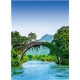 Vliesové fototapety most přes řeku rozměr 184 x 254 cm - POSLEDNÍ KUSY