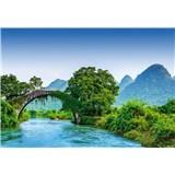 Fototapety most přes řeku v Číně rozměr 368 cm x 254 cm