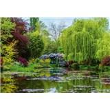 Vliesové fototapety zahrada ve Francii rozměr 368 cm x 254 cm