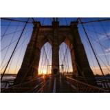 Vliesové fototapety Brooklynský most rozměr 368 cm cm x 254 cm