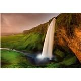 Vliesové fototapety Islandský vodopád rozměr 368 cm cm x 254 cm