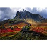Vliesové fototapety hory na Islandě rozměr 368 cm cm x 254 cm