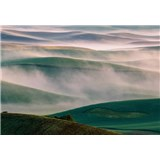 Fototapety mlhavé kopce rozměr 368 cm x 254 cm
