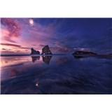 Fototapety zátoka při západu slunce rozměr 368 cm x 254 cm