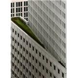 Vliesové fototapety architektura bílé výškové budovy rozměr 184 x 254 cm