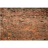 Vliesové fototapety cihlová červená zeď rozměr 368 cm x 254 cm