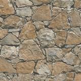 Vliesové tapety na zeď IMPOL přírodní kámen hnědý