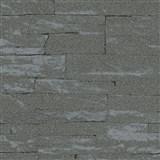 Vliesové tapety na zeď Brique 3D ukládané kameny tmavě šedé s výraznou plastickou strukturou