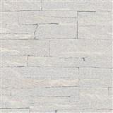 Vliesové tapety na zeď Brique 3D ukládané kameny šedé s výraznou plastickou strukturou