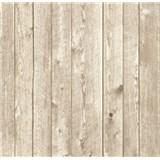 Vliesové tapety na zeď dřevěné obložení světle hnědé