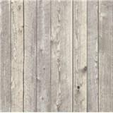 Vliesové tapety na zeď dřevěné obložení šedé