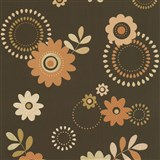 Papírové tapety na zeď X-treme Colors - květy oranžovo-okrové