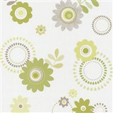 Papírové tapety na zeď X-treme Colors - květy zelené