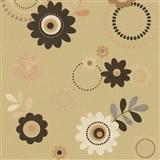 Papírové tapety na zeď X-treme Colors - květy hnědé