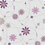 Papírové tapety na zeď X-treme Colors - květiny fialové