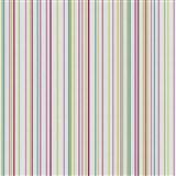 Papírové tapety na zeď X-treme Colors - proužky barevné na bílém podkladu