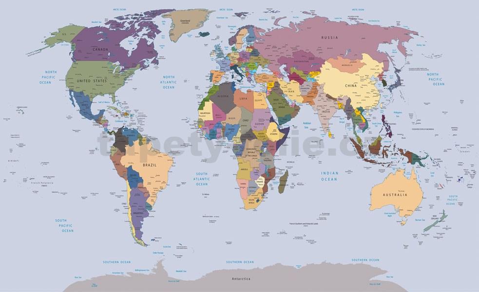 Fototapety Mapa Sveta Rozmer 254 Cm X 184 Cm Tapety Folie Cz