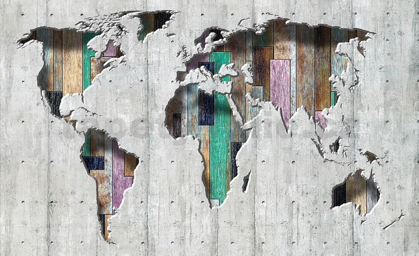 Vliesove Fototapety 3d Mapa Sveta Rozmer 416 Cm X 254 Cm Tapety