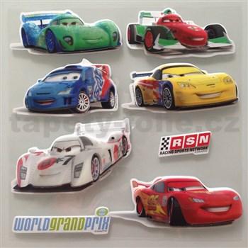 3D samolepky na zeď dětské Cars