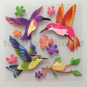 3D samolepky na zeď dětské ptáčci