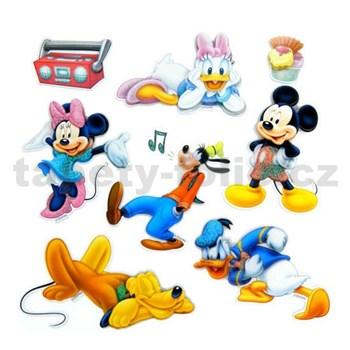 3D samolepky na zeď dětské Mickey, Minnie, Donald, Daisy, Pluto, Goofy