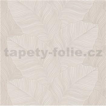 Vliesové tapety na zeď Bali listy hnědé