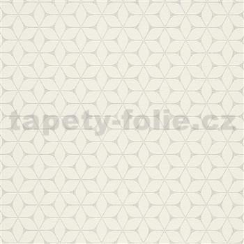 Vliesové tapety na zeď Bali moderní plastický vzor bílý