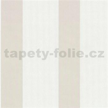 Vliesové tapety na zeď Belcanto - pruhy světle hnědé - SLEVA