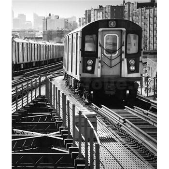 Luxusní vliesové fototapety New York - černobílé, rozměr 325,5 cm x 270 cm