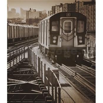 Luxusní vliesové fototapety New York - sépie, rozměr 325,5 cm x 270 cm