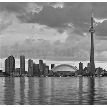 Luxusní vliesové fototapety Toronto - černobílé, rozměr 279 cm x 270 cm