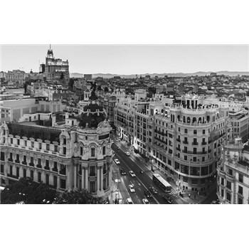 Luxusní vliesové fototapety Madrid - černobílé, rozměr 418,5 cm x 270 cm