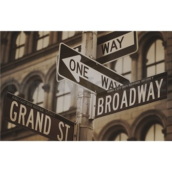 Luxusní vliesové fototapety New York - sépie, rozměr 418,5 cm x 270 cm