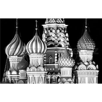 Luxusní vliesové fototapety Moskva - černobílé, rozměr 418,5 cm x 270 cm