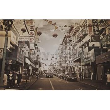 Luxusní vliesové fototapety Stockholm - sépie, rozměr 186 cm x 270 cm