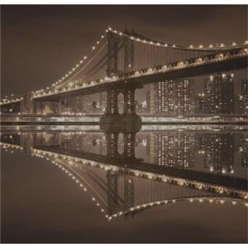 Luxusní vliesové fototapety New York - sépie, rozměr 279 cm x 270 cm