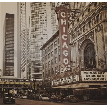 Luxusní vliesové fototapety Chicago - sépie, rozměr 279 cm x 270 cm