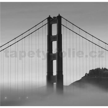 Luxusní vliesové fototapety San Francisco - černobílé, rozměr 279 cm x 270 cm