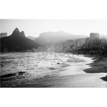 Luxusní vliesové fototapety Rio de Janeiro - černobílé, rozměr 418,5 cm x 270 cm