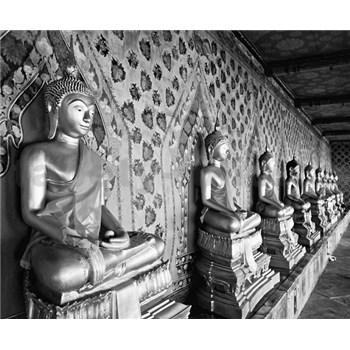 Luxusní vliesové fototapety Bangkok - černobílé, rozměr 325,5 cm x 270 cm