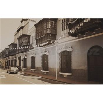 Luxusní vliesové fototapety Lima - sépie, rozměr 418,5 cm x 270 cm