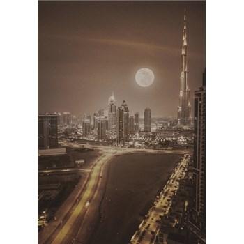 Luxusní vliesové fototapety Dubai - sépie, rozměr 186 cm x 270 cm